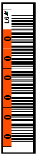 Image of LTO 6 - 6 Character Horizontal (L6) label